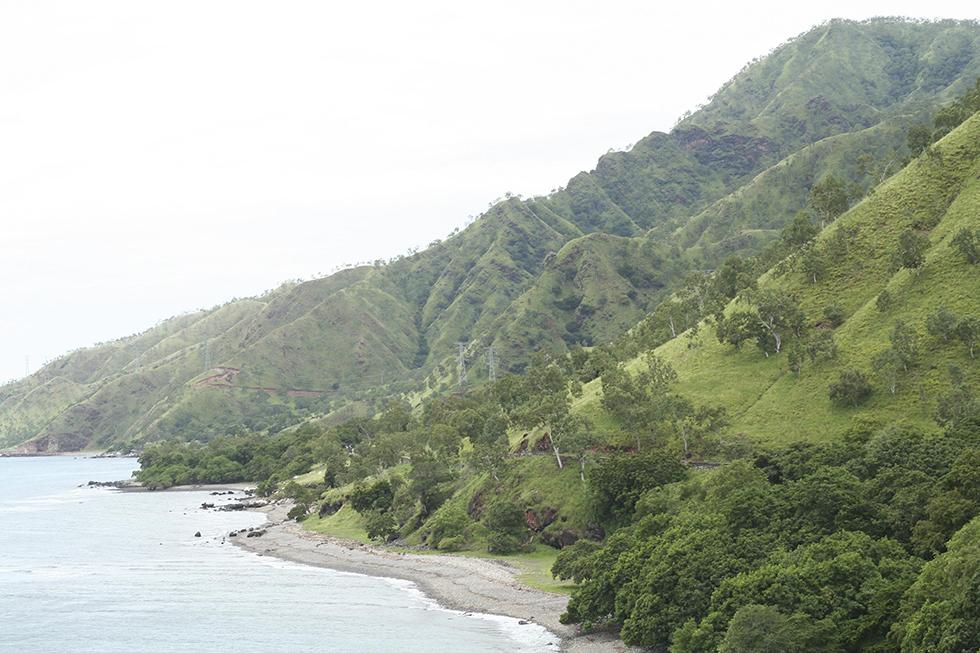 Plumeting coast line