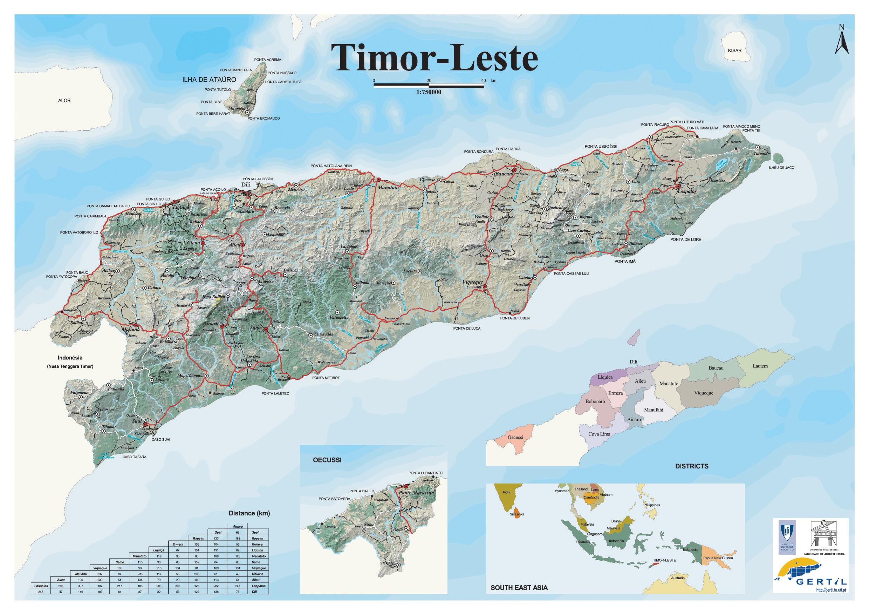 Map Timor-Leste