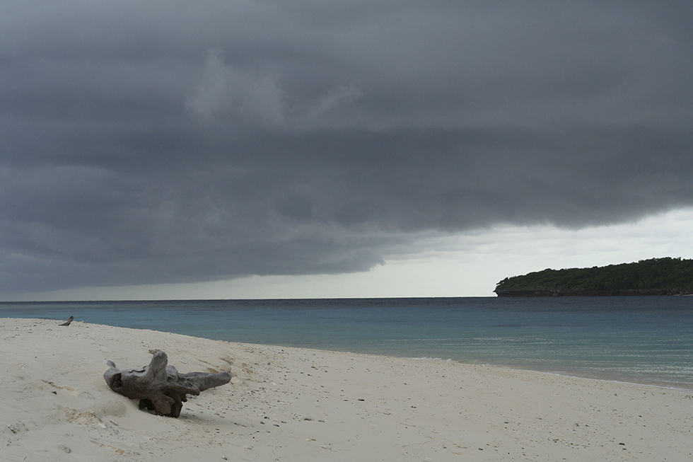 Storm rolling in on Jaco Island